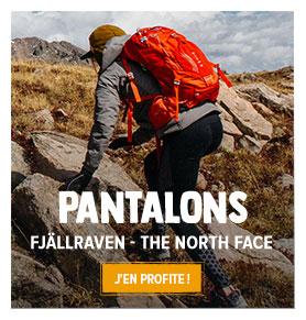Découvrez notre rayon Pantalons de randonnée Femme : Fjällraven, The North Face...