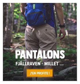 Découvrez notre rayon Pantalons de randonnée Homme : Fjällraven, The North Face...