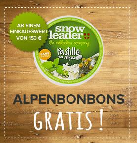 Alpenbonbons mit Blüten- und Pflanzengeschmack geschenkt