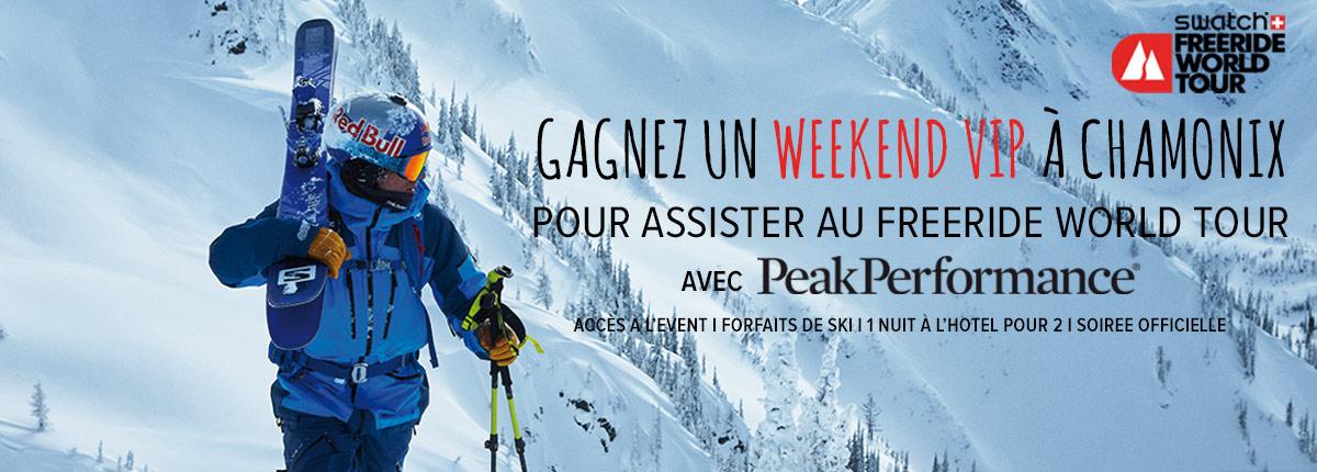 Peak Performance : gagnez votre weekend à Chamonix