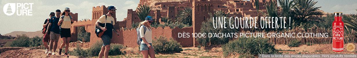 Une gourde Hampton offerte dès 100€ d'achats sur la nouvelle collection Picture Organic Clothing !