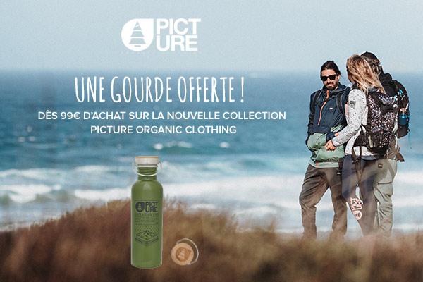 Une gourde offerte dès 100€ d'achats sur la nouvelle collection Picture Organic Clothing!