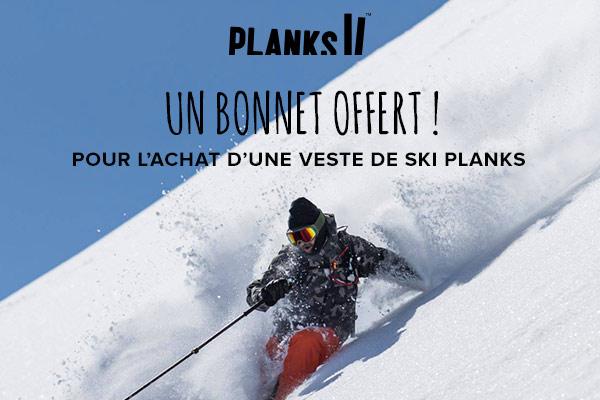 Un bonnet offert pour une veste de ski Planks achetée !