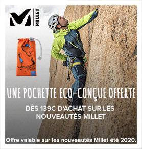 Recevez une pochette eco-conçu dès 139€ d'achat sur les nouveautés Millet !