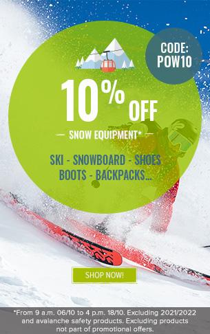 10% off Snow Equipment
