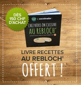 Un livre de recettes offert dès 150 CHF d'achats sur Snowleader !