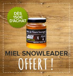 Un pot de miel Made in Snowleader offert dès 150 € d'achat !