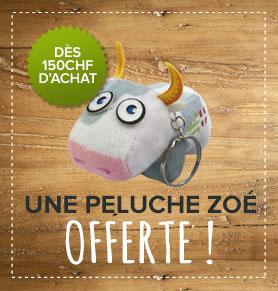 Peluche Zoé offerte dès CHF 150 d'achat!