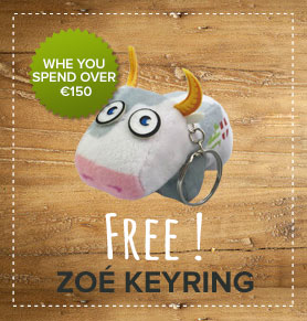 Free Zoé keyring whe you spend over 150€