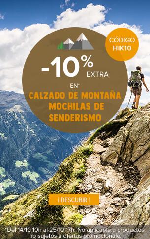 -10% extra en calzado de montana y mochilas de senderismo !
