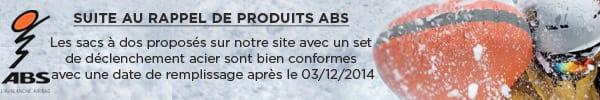 Suite au rappel de produits ABS