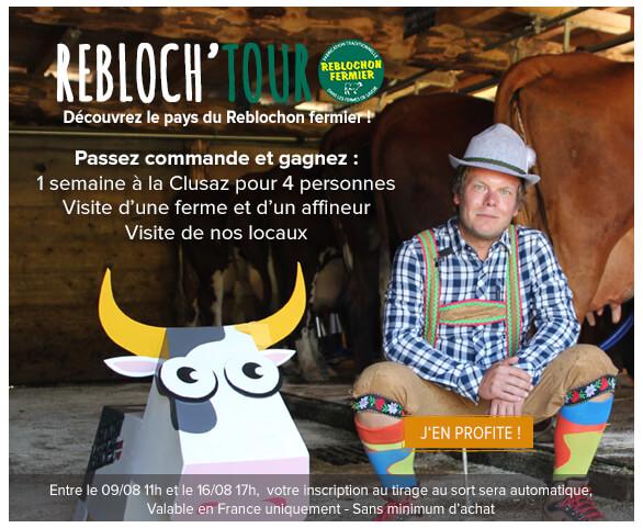 Participez au Rebloch'tour et gagnez une semaine dans le pays du reblochon fermier!