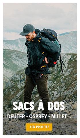 Découvrez notre rayon sacs à dos de randonnée : Deuter, Osprey, Millet...
