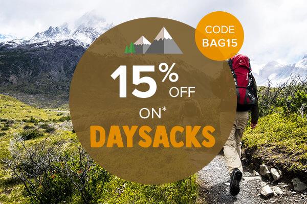 15% off on Daysacks
