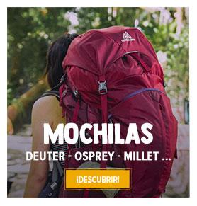Descubra nuestra collecion Mochilas de senderismo : Deuter, Osprey, Millet...
