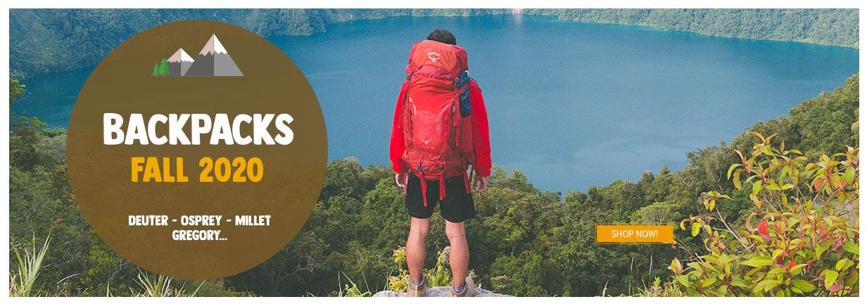 Come discover our Backpacks assortment : Deuter, Osprey, Millet, Gregory...