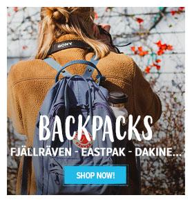 Come discover our backpacks range : Fjällräven, Eastpak, Dakine...