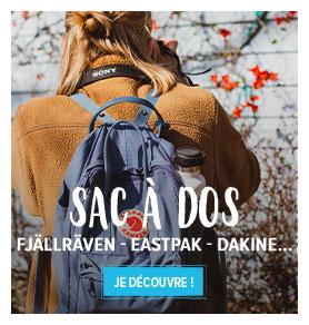 Découvrez tous les produits de notre rayon Sacs à Dos : Fjällraven, Eastpak, Dakine...