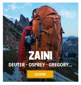 Scopri Zaini: Deuter, Osprey, Gregory...