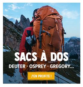 Découvrez notre rayon Sac à dos de randonnée : Deuter, Osprey, Gregory...