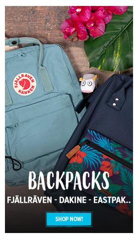 Backpacks : Fjallraven - Eastpak - Dakine...