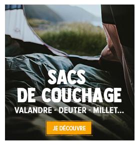 Découvrez notre gamme de sacs de couchage : Valandre, Millet, Deuter...