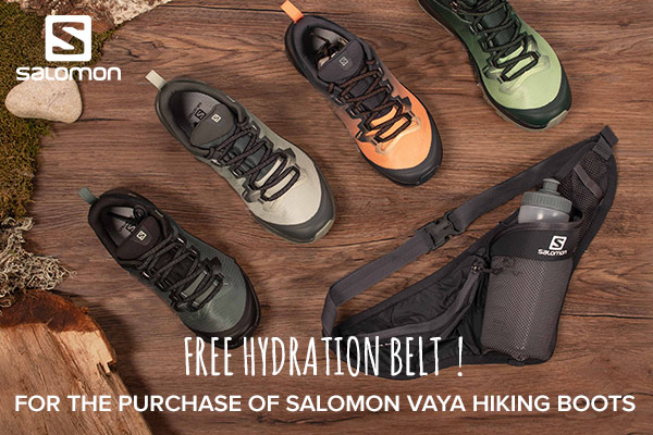 Free hydration belt for the purchase of women Vaya walking boots !