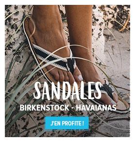 Découvrez notre rayon Sandales et Tongs Femme : Birkentsock, Havaianas...