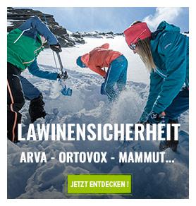 Lawinensicherheit : Arva, Mammut, Ortovox...