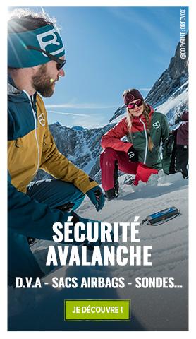 Sécurtié avalanche : Ortovox, Mammut, Arva...