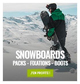 Sélection Best of Déstockage : matériel snowboard jusqu'à -60%