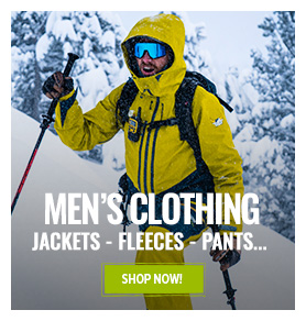 Special Clearance Selection: men's technical clothing up to 60% off!