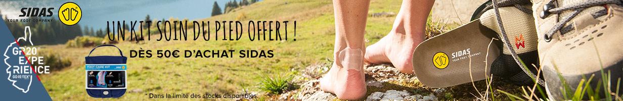 Un kit soin du pied offert, dès 50€ d'achat Sidas!