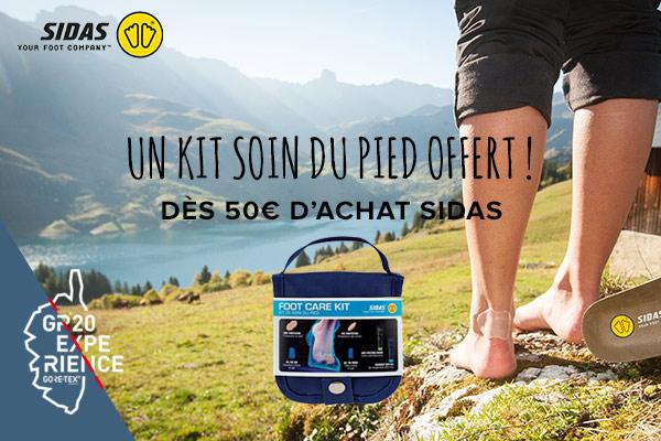 Un kit soin du pied offert dès 50€ d'achat Sidas !