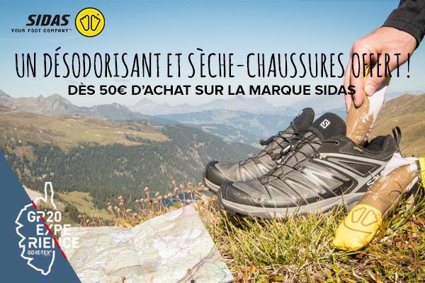 Sèche-chaussures offert dès 50€ d'achat sur Sidas