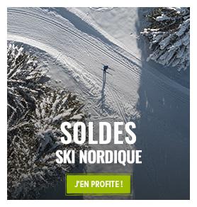 C'est les soldes d'hiver ! Profitez de promotions jusqu'à -50% sur le rayon Ski de fond