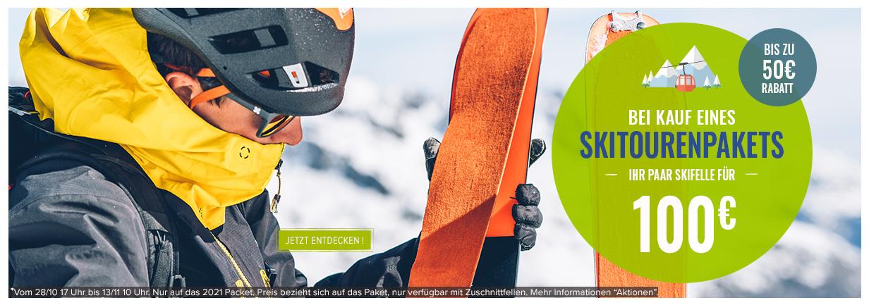 Bei Kauf eines Skitourenpakets, Ihr Paar Skifelle für 100€