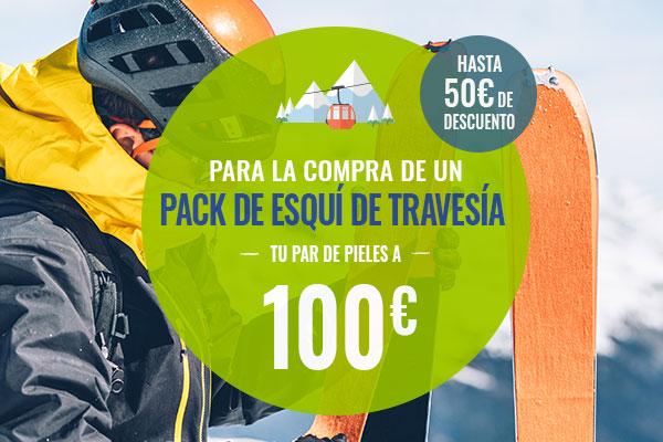 Para la compra de un pack de esquí de travesía, Tu par de pieles a 100€