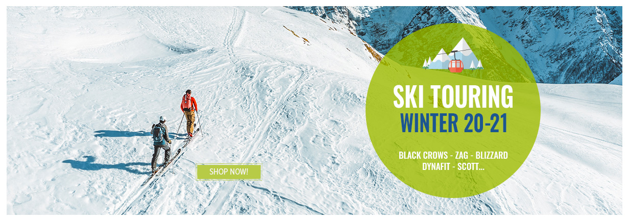 Discover our Ski Touring range : Black Crows, Zag, Blizzard...