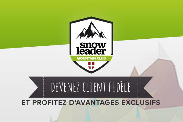 Rejoingnez le Snowleader Moutain Club