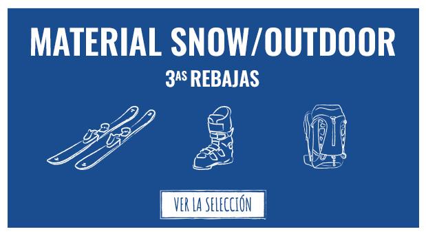 Segundas rebajas: Material snow & outdoor
