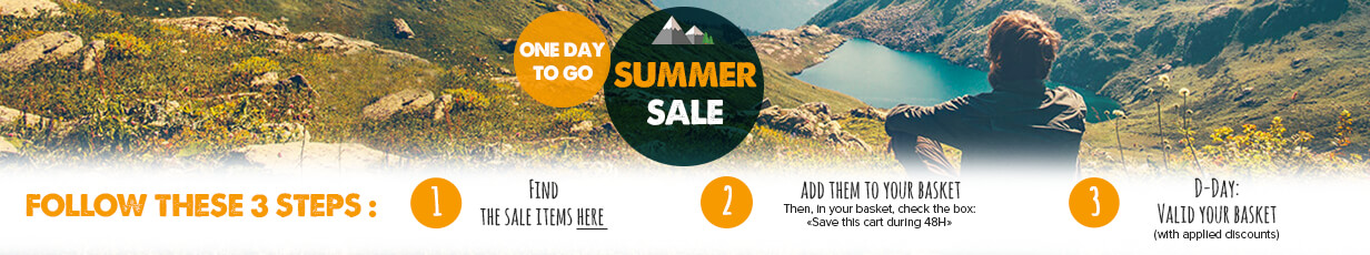 One day to go before the summer sale,  prepare your basket so that you're ready to take advantage of amazing discounts when D-Day hits