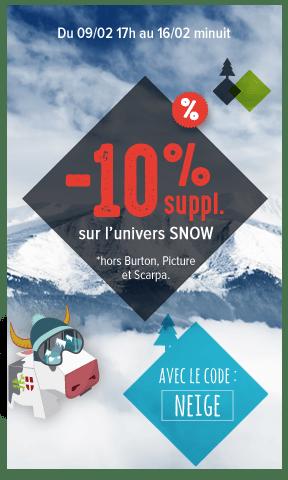 -10% supplémentaires sur l'univers snow !