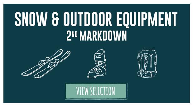 Winter Sale 2nd markdown discounted ski, snowboard, climbing, walking, outdoor equipment