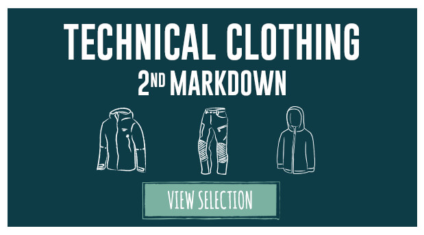 Winter Sale 2nd markdown discounted ski, snowboard, climbing, walking, outdoor clothing, technical clothing