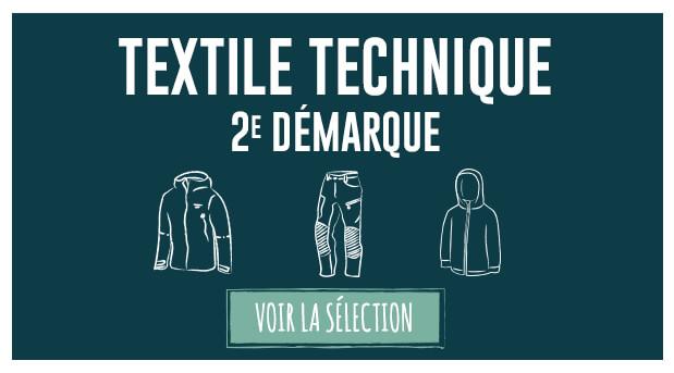 Soldes d'hiver : deuxième démarque textile technique !