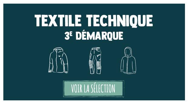 Soldes d'été : troisième démarque sur le textile technique : Outdoor & Snow !