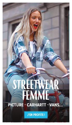 Découvrez notre rayon Streetwear Femme : Picture, Carhartt, Vans...