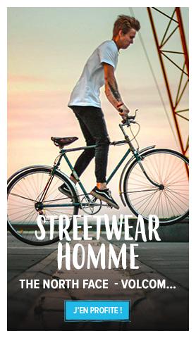 Découvrez notre rayon Streetwear Homme :  The North Face, Volcom...