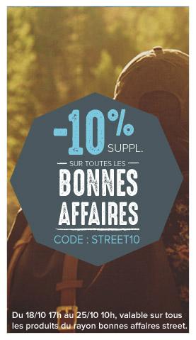 -10% supplémentaires sur les bonnes affaires street !